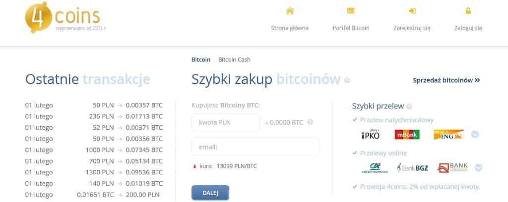 gdzie kupić bitcoina 4coins